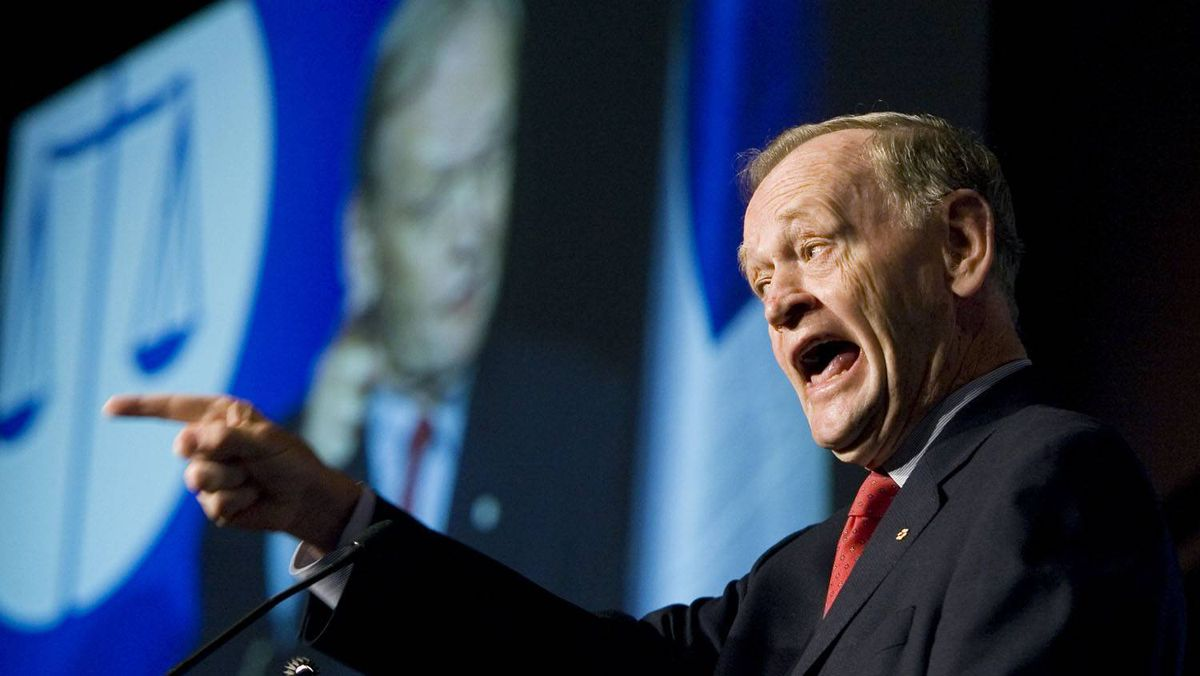 A 2008 photo of former prime minister Jean Chrétien, whose government's fiscal policy is all the rage in London.
