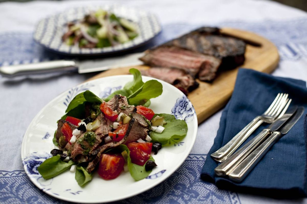 Fragrant Thai beef salad makes a delicious meal of yesterday's sirloin steak. You can substitute sliced deli roast beef if you don't have any leftovers.