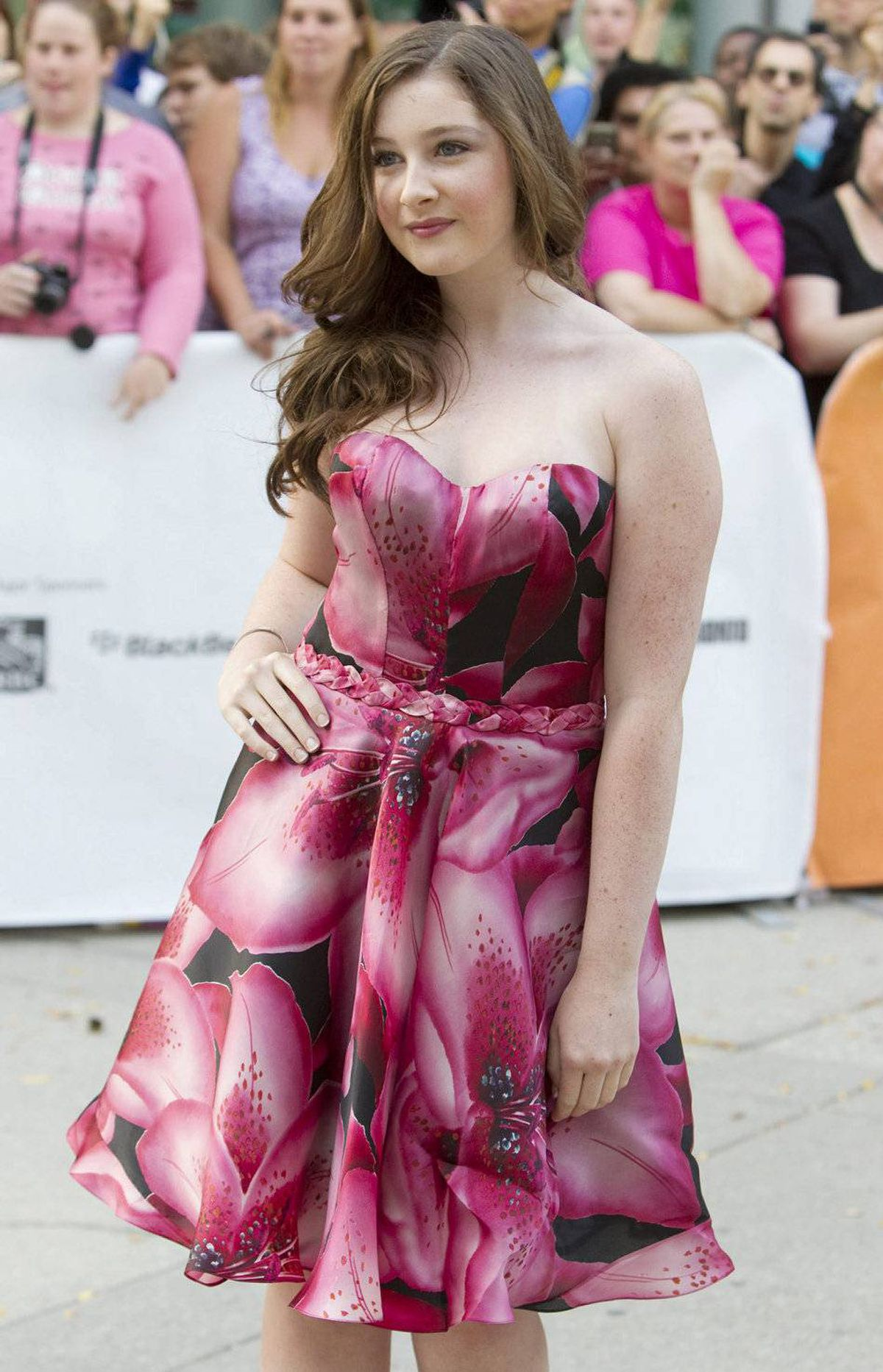 """Actress Marissa O'Donnell poses at the gala for the film """"Peace, Love and Misunderstanding"""" during the Toronto International Film Festival Tuesday, September 13, 2011."""