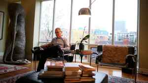 Robert Sirman, director of the Canada Council for the Arts, reads in his favourite place at his home in Ottawa.
