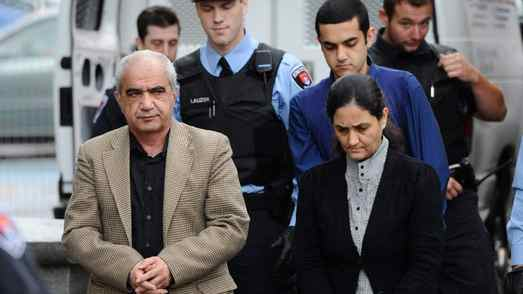 Tooba Mohammad Yahya, husband Mohammad Shafia and son Hamed Mohammed Shafia are escorted to court in Kinston last month.
