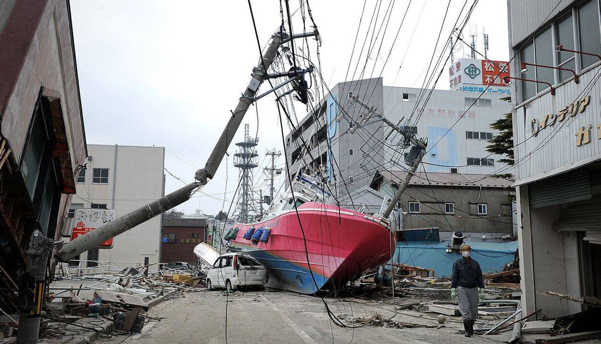 The effects of the tsunami in Hishonomaki, Japan. The nuclear element of the country?s disaster may be an impediment to a quick recovery.
