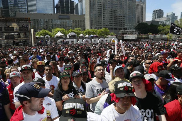 Police name three men arrested after shooting at Raptors victory rally