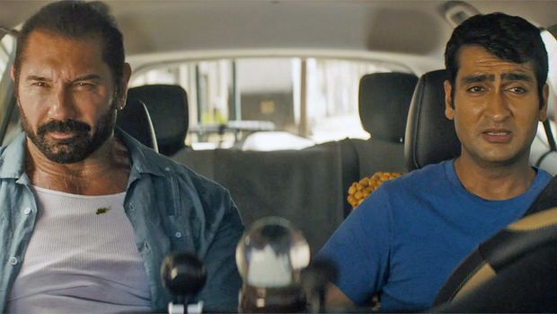 The high-concept ride-share-meets-buddy comedy Stuber doesn't earn anything close to a five-star rating
