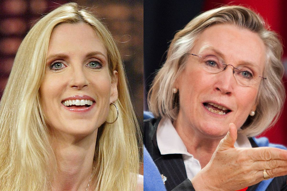 U.S. conservative pundit Ann Coulter and Toronto Liberal MP Carolyn Bennett are shown in a photo combination.