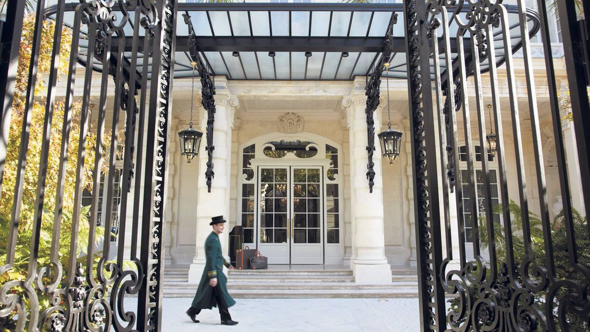 The Shangri-La Hotel in Paris in the 16th arrondissement. The building was once the home of Prince Roland Bonaparte.
