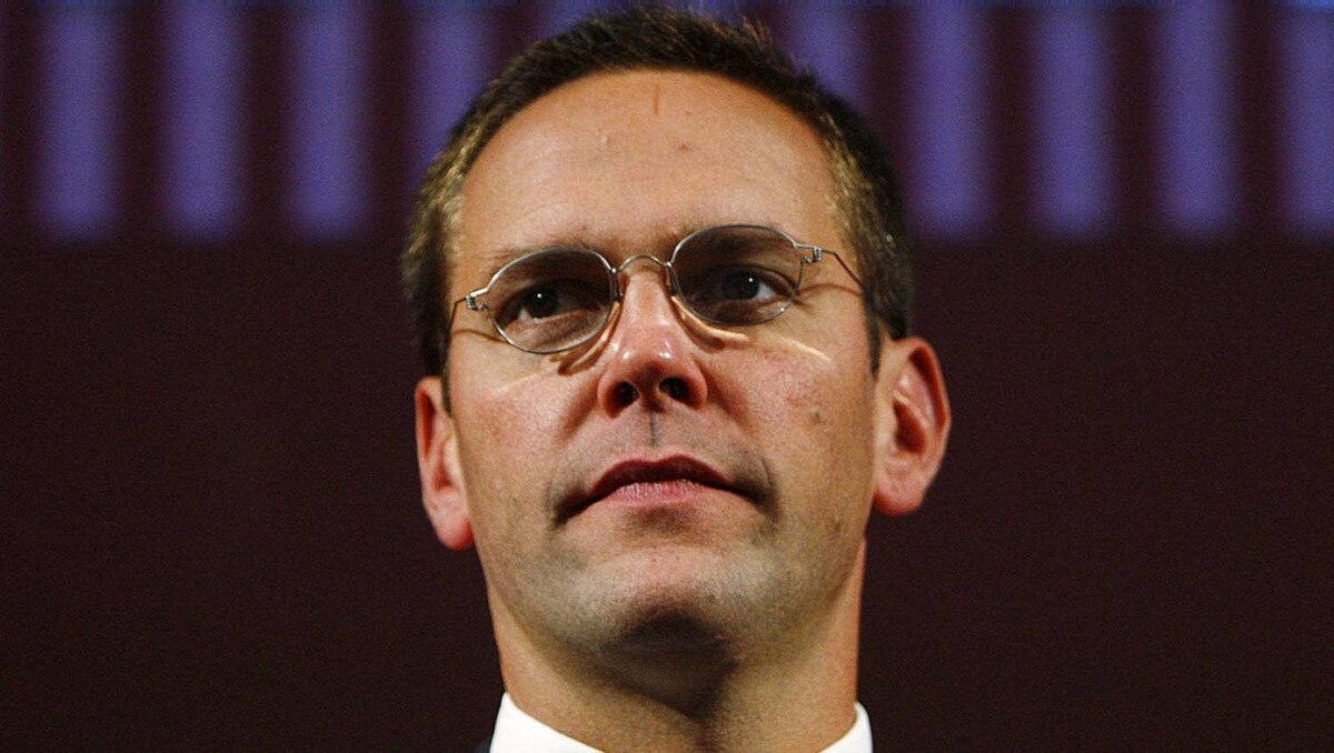 James Murdoch is seen in this 2009 file photo. Murdoch was testifying Thursday for the second time before a British parliamentary committee.