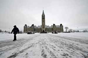 The Centre Block of Parliament sits empty in Ottawa on Jan. 6, 2010.