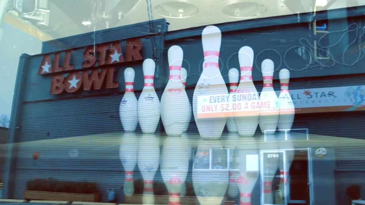 A screen shot from the Inside Jobs video on All Star Interactive bowling