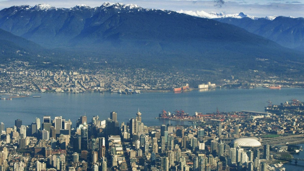 The Vancouver skyline.