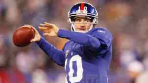 New York Giants quarterback Eli Manning set an NFL record this year for most fourth-quarter touchdown passes.