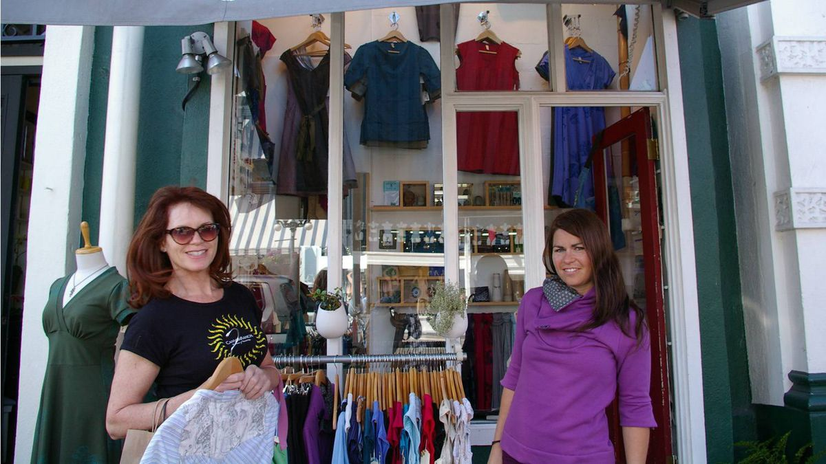Jill Degenstein of Toronto and her daughter, Connie at Smoking Lily?s four-square-metre flagship store.