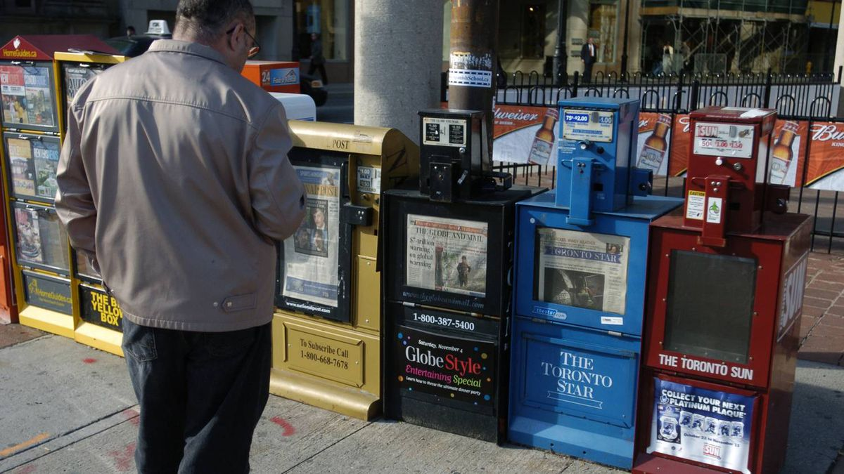 Newspaper boxes in Toronto