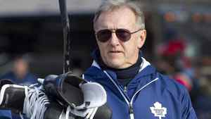 Toronto Maple Leafs head coach Ron Wilson arrives for an outdoor in Toronto December 22, 2010. Wilson hinted at his desire for a new contract extension over the holidays with a Twitter post Friday night, Dec. 23, 2011, after the Leafs' 5-3 victory over the New York Islanders. THE CANADIAN PRESS/Darren Calabrese