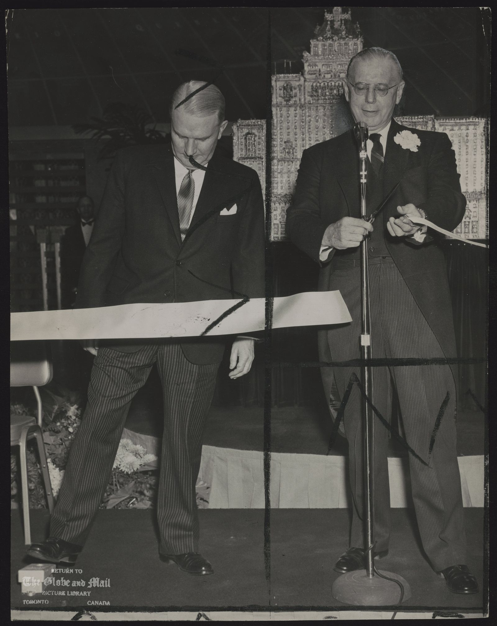ROYAL YORK HOTEL. Premier Frost cuts ribbon at opening. The Royal York has regained the title of the largest hotel in the British Common-wealth with the opening of the $14,000,000 addition.