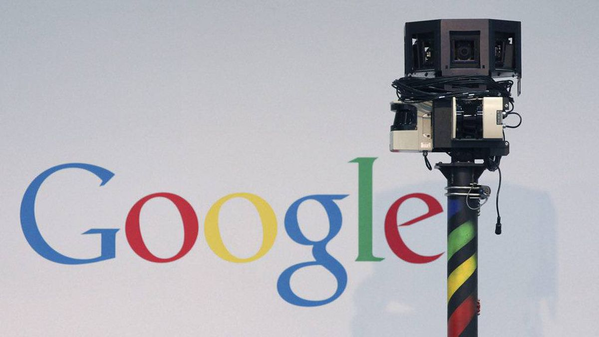 The camera for a Google street view car, sits on display at the CeBIT technology fair in Hanover, Germany, on Tuesday, March 2, 2010.