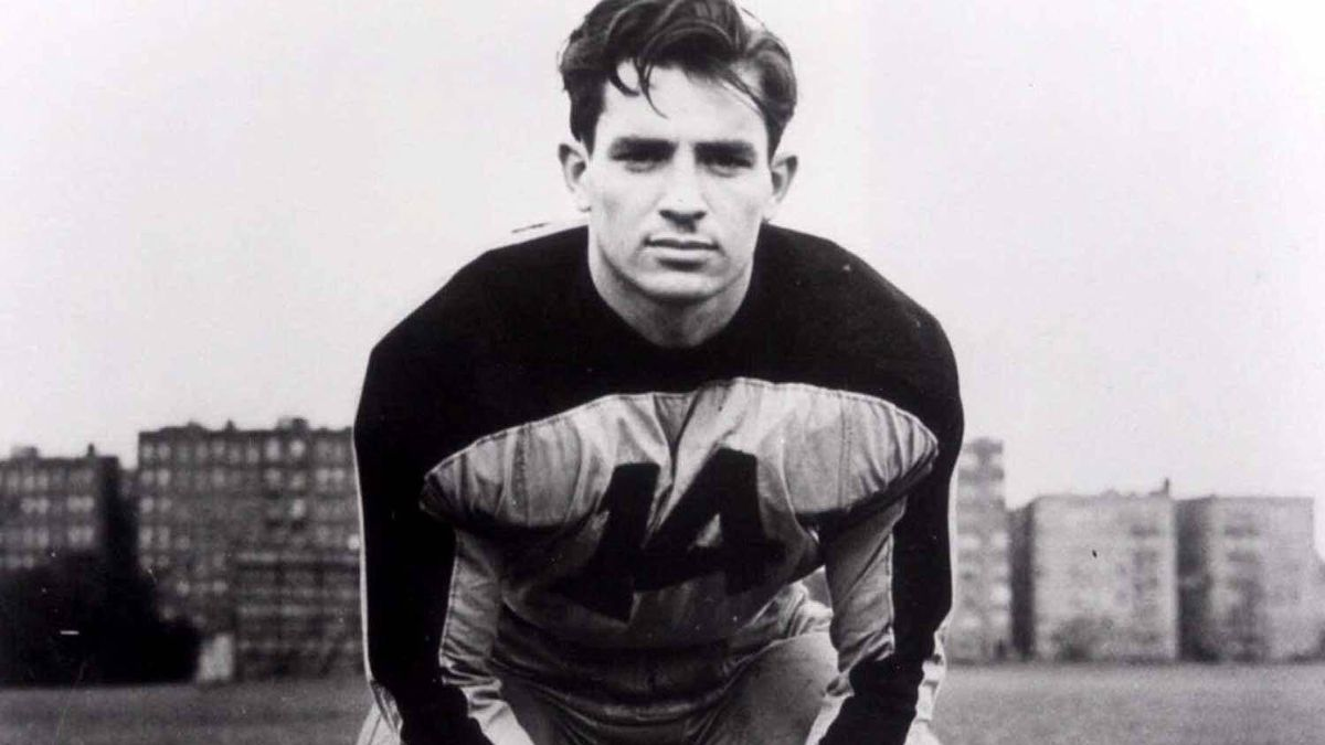 A young Jack Kerouac in his Columbia University football uniform.