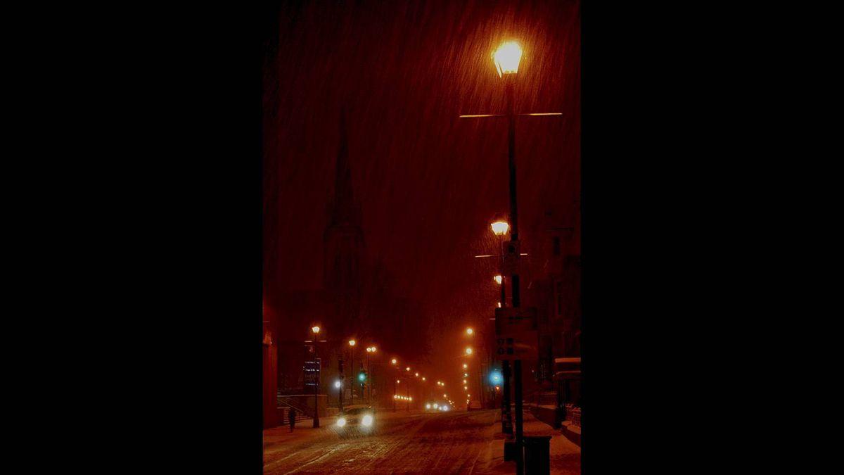 ROD STEWART photo: Downtown Halifax - Snow storm hits Halifax