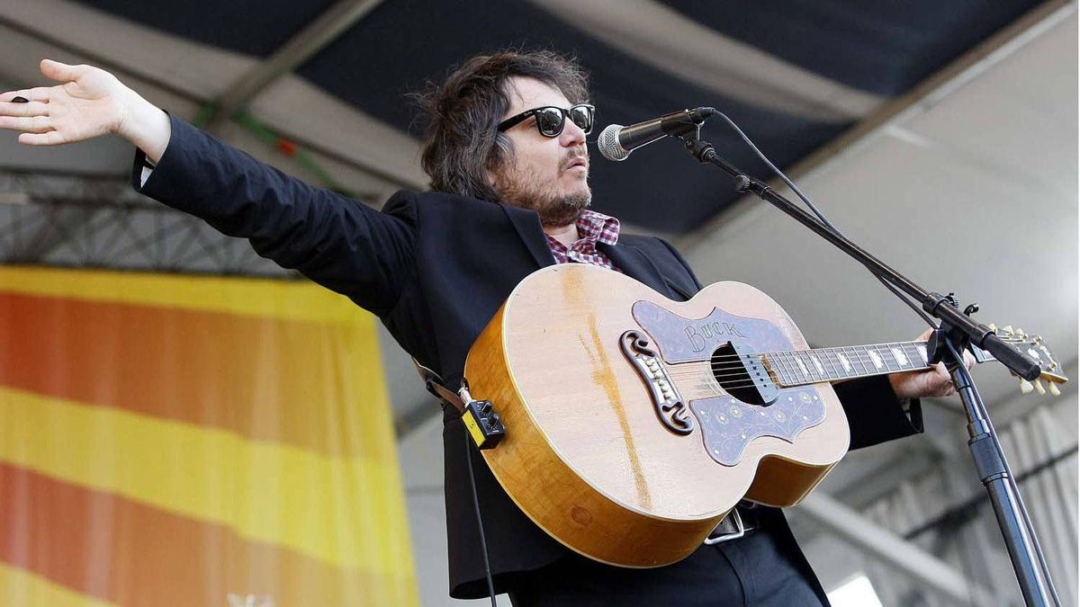 Wilco lead singer Jeff Tweedy performs at the New Orleans Jazz and Heritage Festival in New Orleans, Thursday, May 5, 2011.
