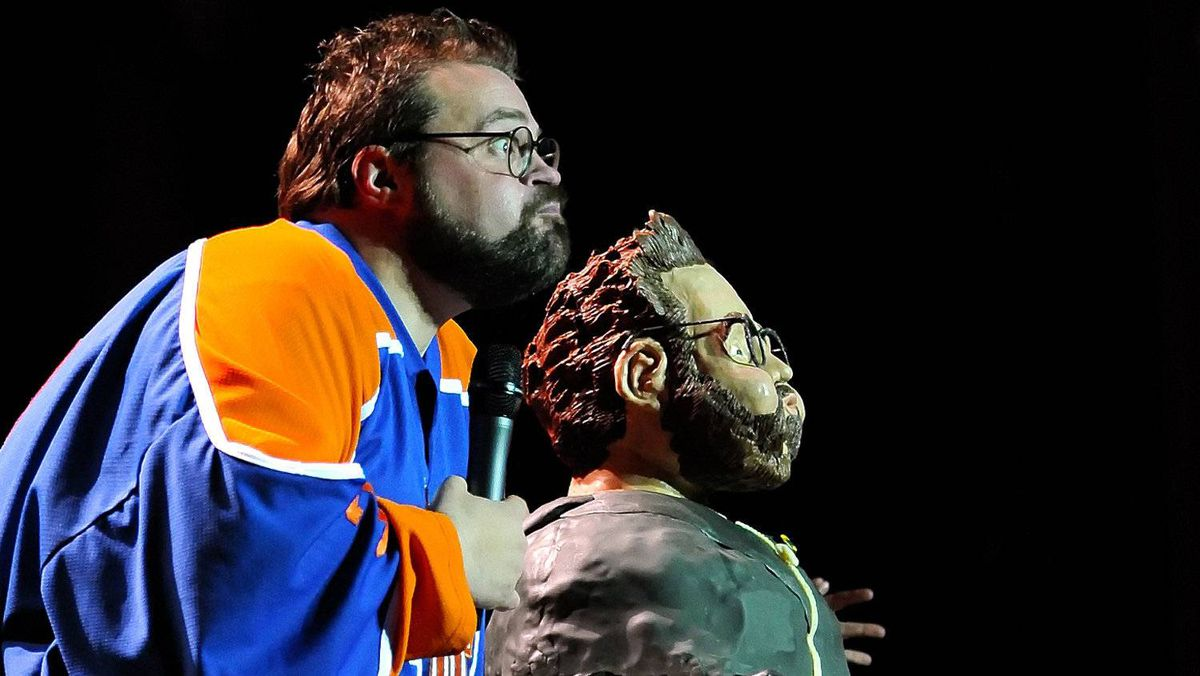 """""""Kevin Smith: Too Fat for 40"""" handout"""