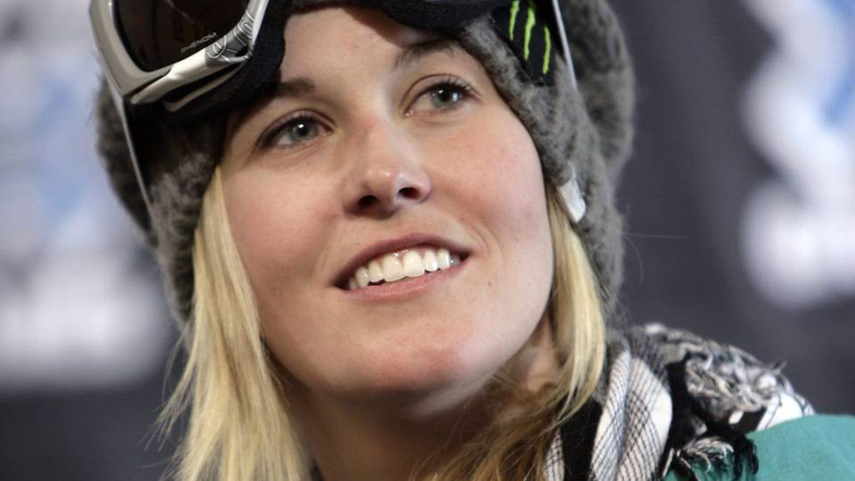 Skier Sarah Burke of Canada looks on during a news conference at the Winter X Games on Wednesday, Jan. 21, 2009.