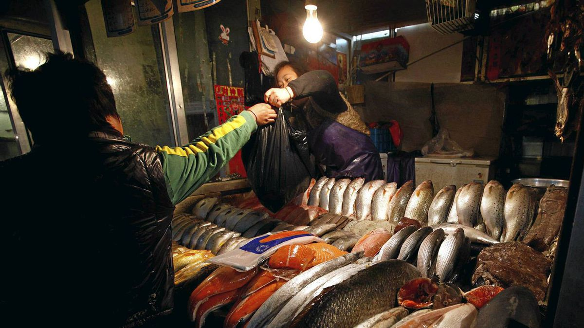 China said Thursday that overall inflation dipped to 4.1 per cent in December, the fifth consecutive month of decline. But food prices spiked to 9.1 per cent, up from November's 8.8 per cent.