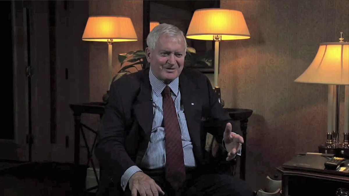 John Turner gives an interview in his room at the Chateau Laurier on June 4, 2009.