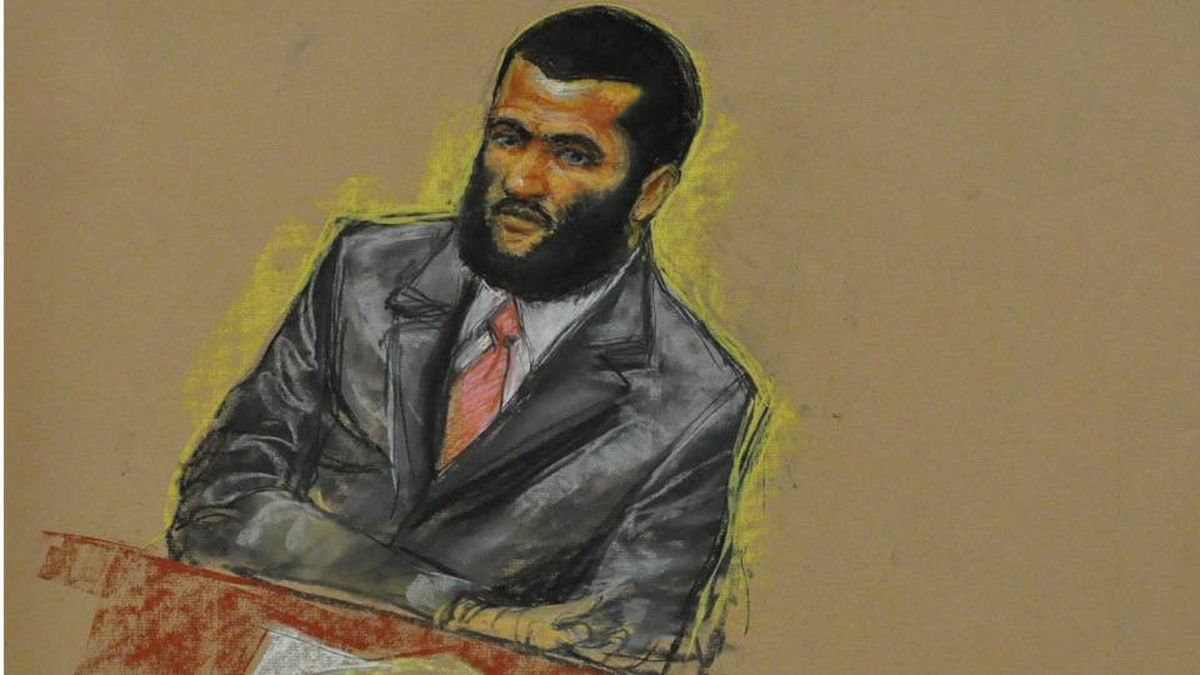 Omar Khadr attends jury selection at his miltary trial on Aug. 10.
