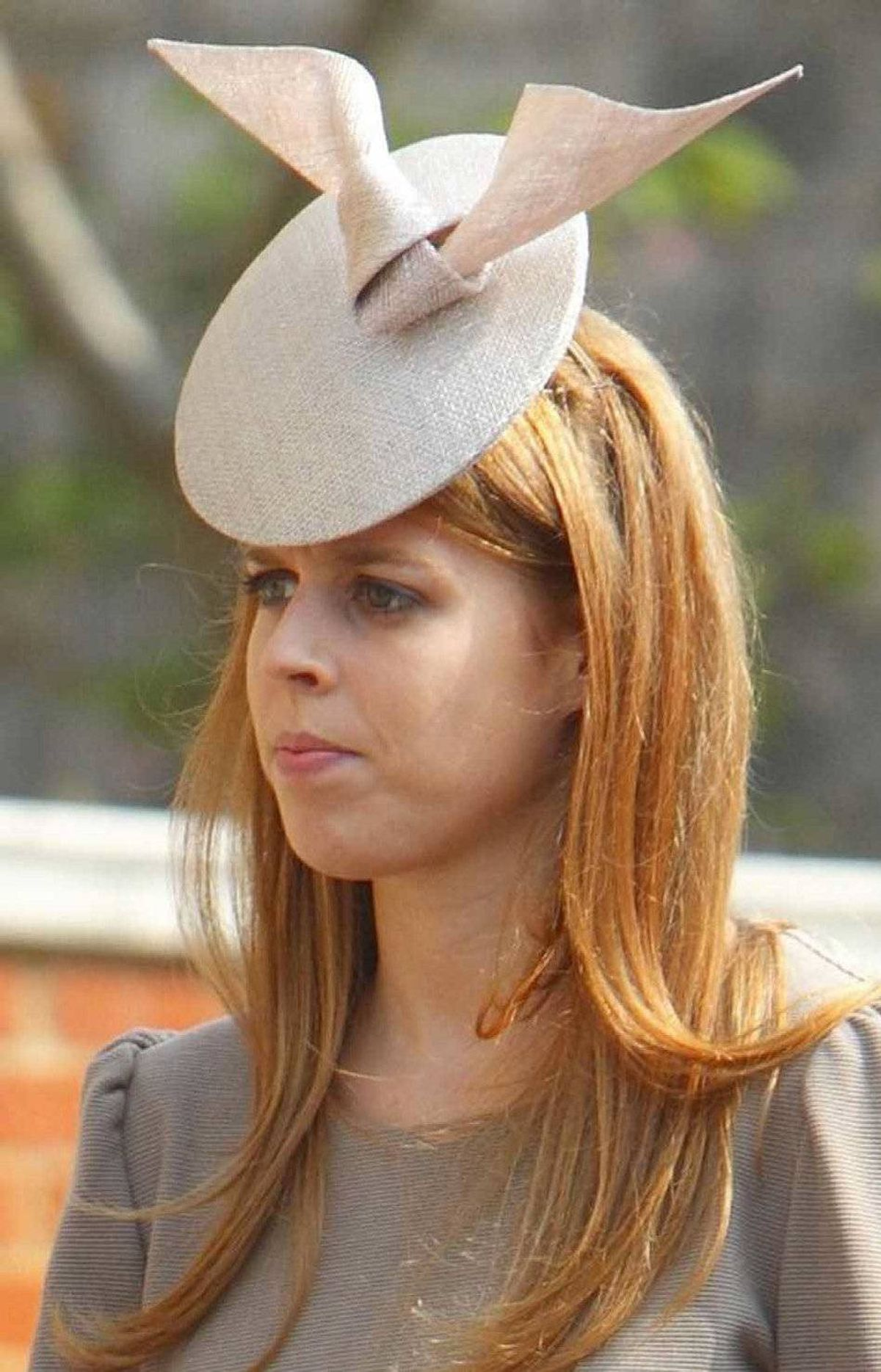 Britain's Princess Beatrice arrive for the Easter Matins Service at St George's Chapel, Windsor Castle, Windsor, England Sunday April 24, 2011.