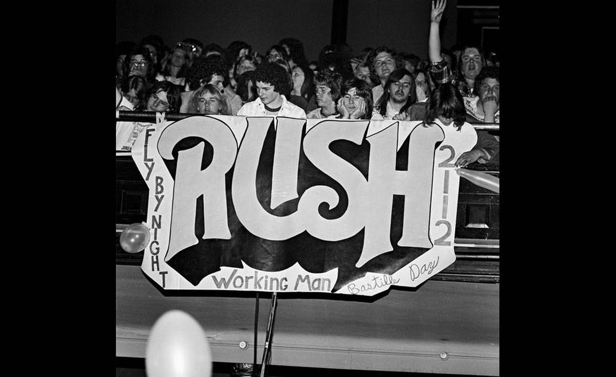 Rush's fans display their devotion in image from the documentary Rush: Beyond the Lighted Stage.