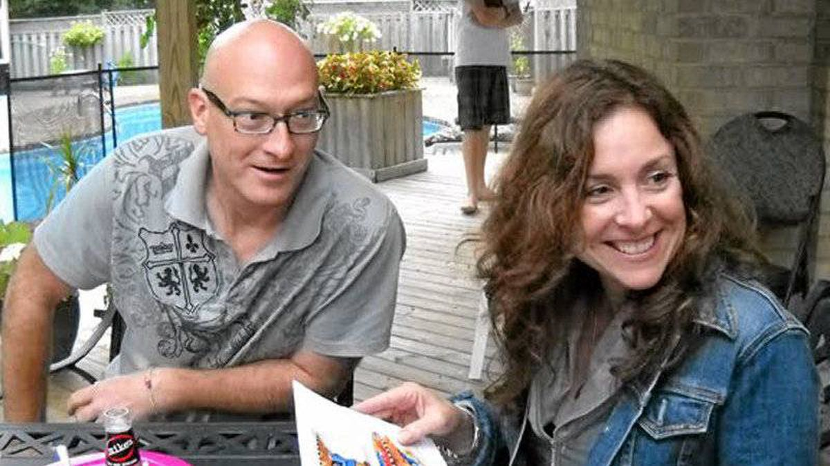 Paul Hindle and Lisa Lebitka are seen together in this undated photo. Hindle has been charged with second-degree murder in Lebitka's death.