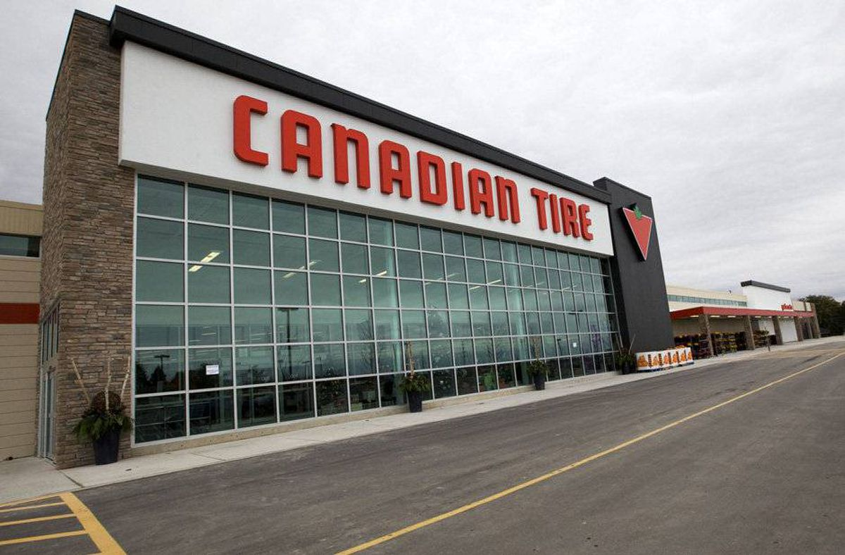 The Canadian Tire store in Bowmanville, Ontario. In addition to the substantial size of the store, redesigned features of the automotive department include hands on touch screen product demonstrations, a designated drive-in oil change garage, lounge service centre waiting area with wifi, and a car audio booth.