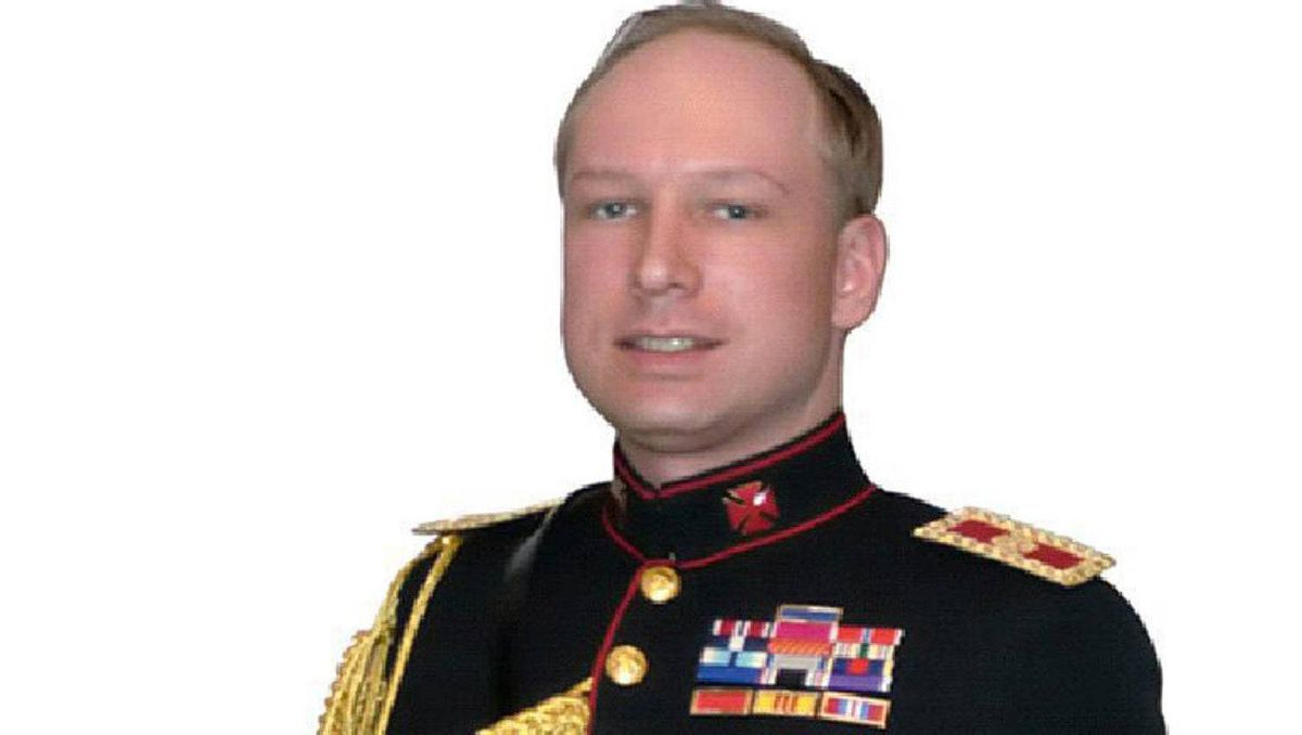 Oslo bombing and shooting suspect Anders Behring Breivik is seen in an image from a manifesto attributed to him that was discovered July 23, 2011.