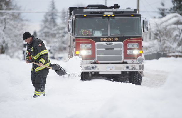 Snow, freezing rain and strong winds forecast for B.C.'s south coast