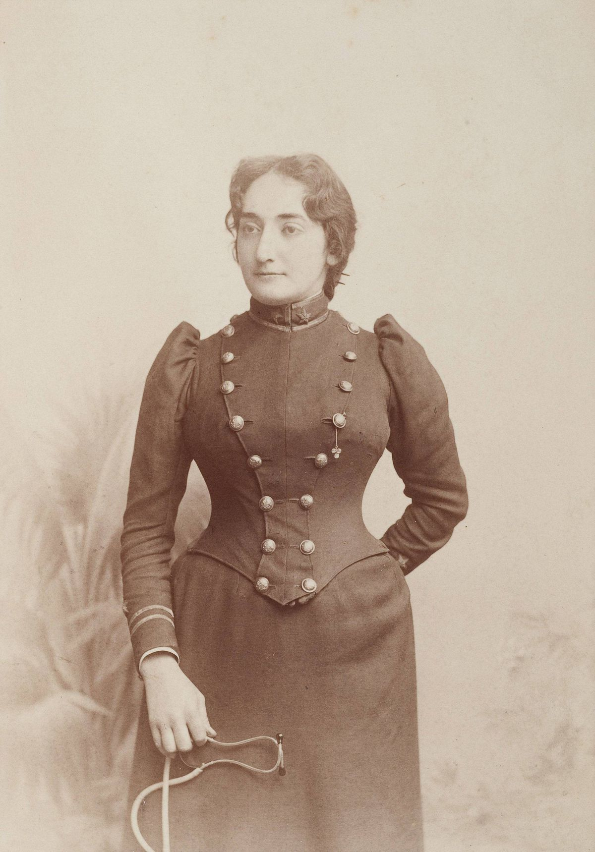 Claribel Cone as a resident physician, Blockley Almshouse, Philadelphia, circa 1891-1892, Gilbert Studios, Philadelphia, PA. Dr. Claribel and Miss Etta Cone Papers, Archives and Manuscripts Collections, The Baltimore Museum of Art.
