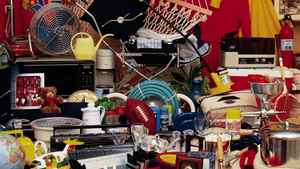 Cluttered household items