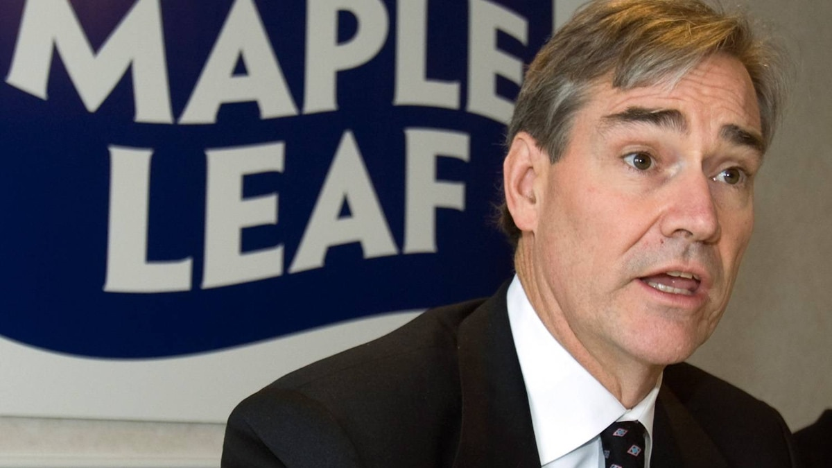 Michael McCain, president of Maple Leaf Foods, holds media briefing on new food safety protocols at its new packaging meat plant in Laval, Que., Friday, Dec. 12, 2008.
