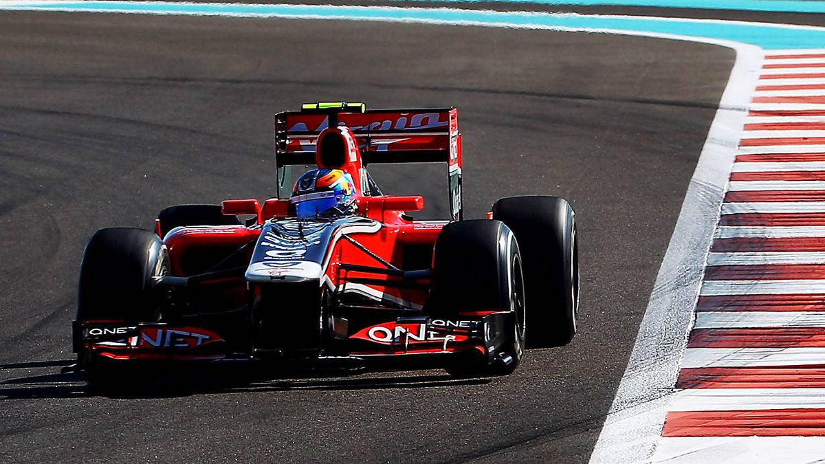 Robert Wickens of Canada drives during practice for the Abu Dhabi Formula One Grand Prix for Marussia Virgin Racing at the Yas Marina Circuit on November 11, 2011 in Abu Dhabi, United Arab Emirates.