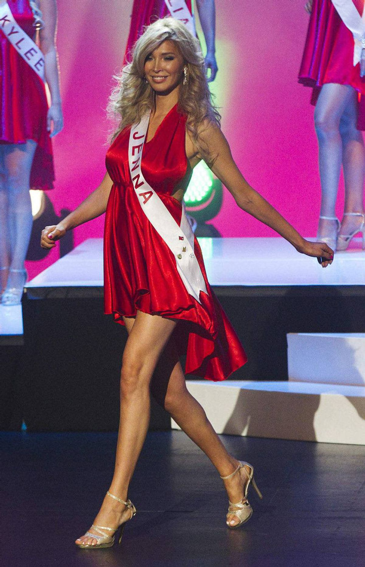 Jenna Talackova takes part in Miss Universe Canada competition in Toronto May 17, 2012.