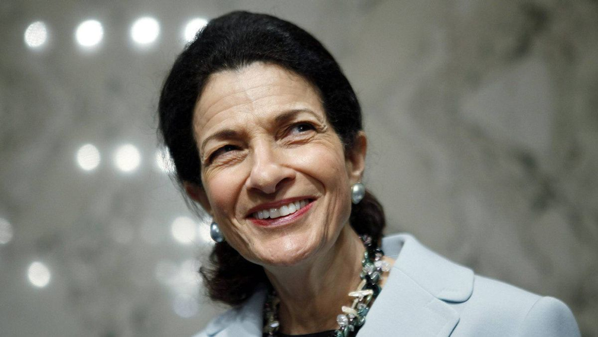 U.S. Senator Olympia Snowe (R-ME), member of the Senate Finance Committee, smiles on Capitol Hill in Washington in this October 13, 2009 file photo. Snowe, one of the few remaining Republican moderates in Congress, announced on February 28, 2012 that she will not seek re-election.