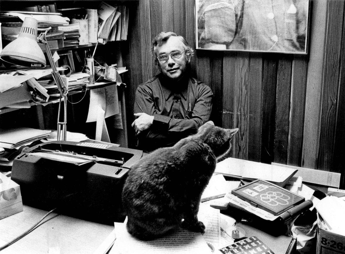 Noveilist Josef Skvorecky photographed in Toronto in 1978 photo.