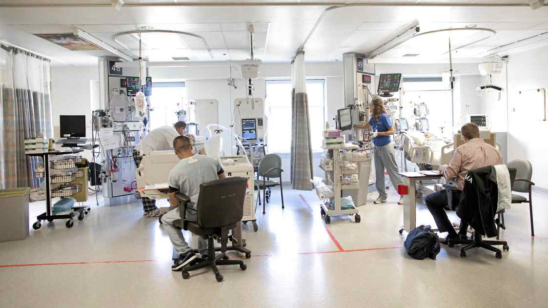 The Critical Care Unit at Sunnybrook Hospital.