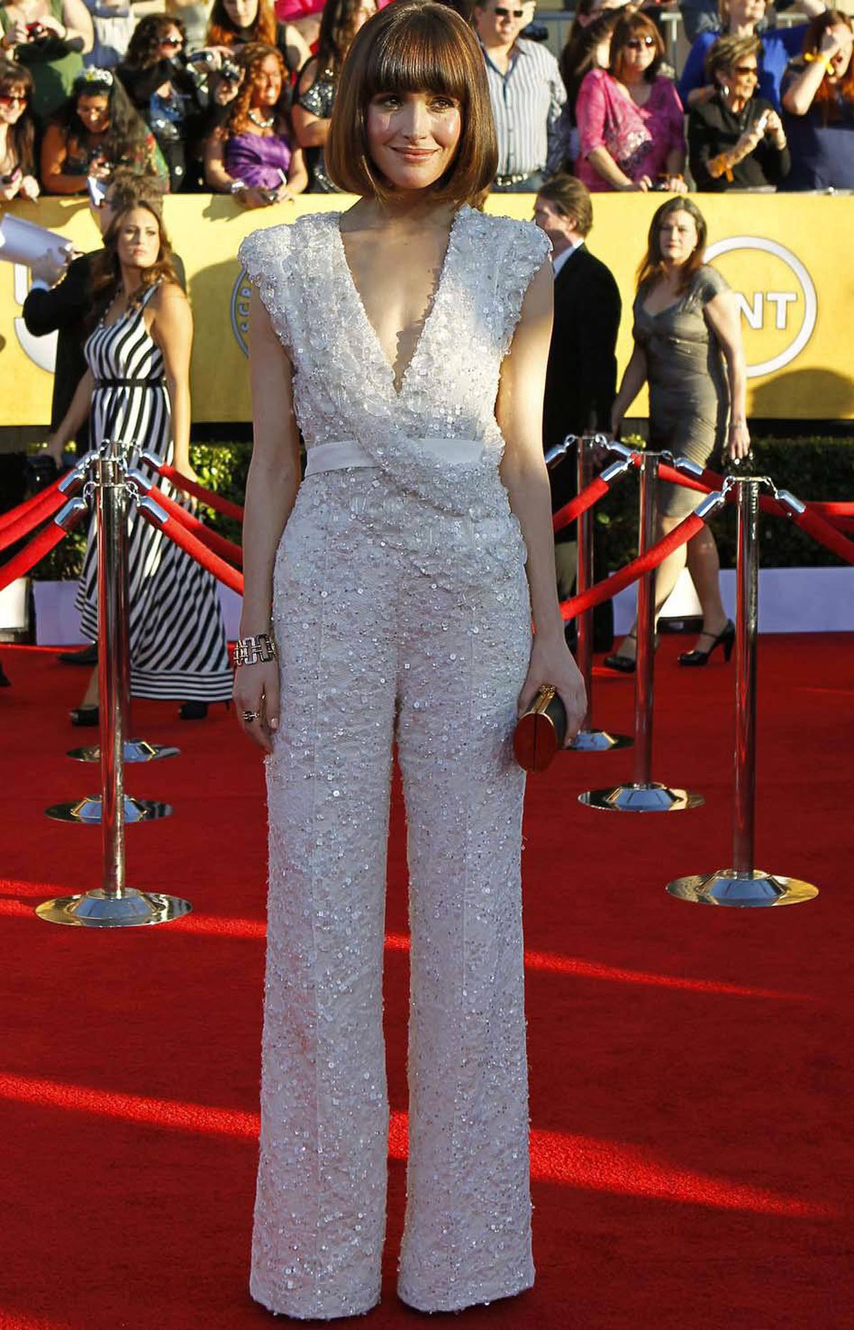 Actress Rose Byrne has Saturday night fever at the SAG awards in Los Angeles Sunday.