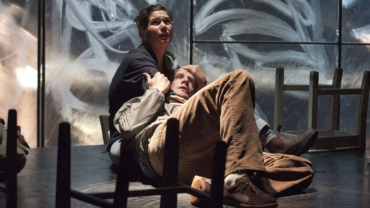 """Krista Colosimo and Jeff Meadows in """"When the Rain Stops Falling"""" at the Shaw Festival"""