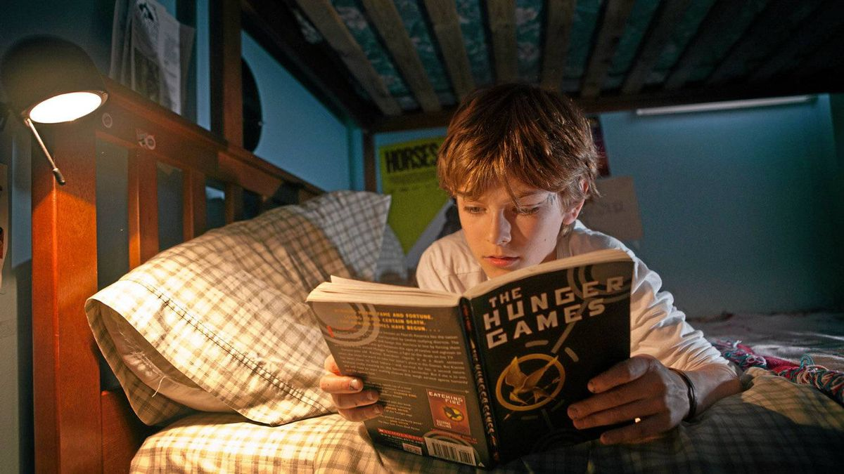 Josh Moshenberg, 11, has read all three books in the Hunger Games series.