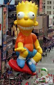 Why does Bart Simpson have wrinkles? Apparently some characters just aren't meant to be giant balloons. Year: 1995