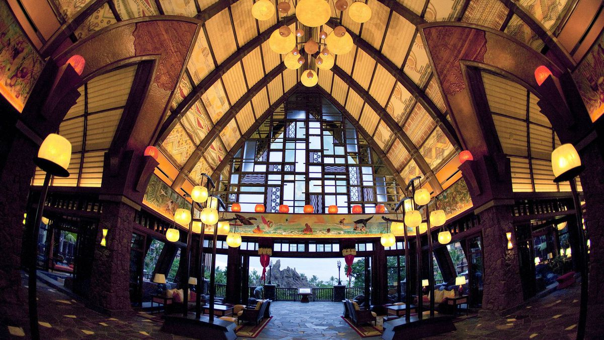 The hotel lobby. Aulani bills itself as a family paradise with a touch of magic.