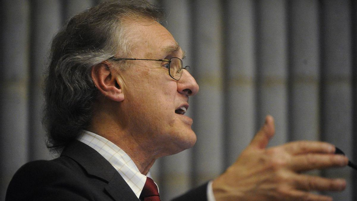 UN AIDS ambassador Stephen Lewis is photographed during a talk at the University of Toronto in Toronto, Ont.