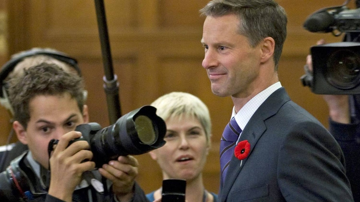 Nigel Wright, chief of staff for Prime Minister Stephen Harper, appears before the House ethics committee on Nov.2, 2010.