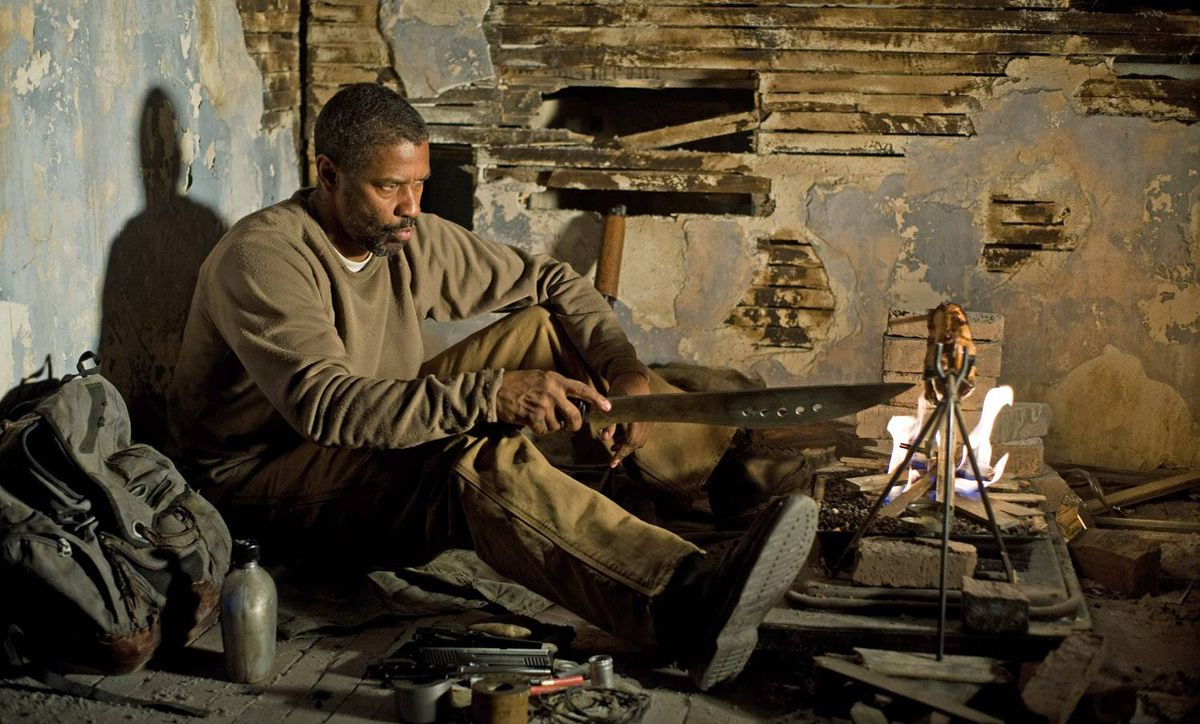 Denzel Washington is a prophet carrying The Word in The Book of Eli's blasted future: He ain't looking for trouble, but he ain't running away from it, neither.